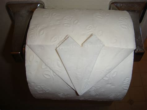 Folding Toilet Paper Fancy - toilet paper origami amypayroo