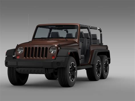 Jeep D Jeep Wrangler Rubicon 6x6 2016 3d Model In 3d Studio 3ds