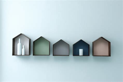 house shaped bookshelves by ferm living studios