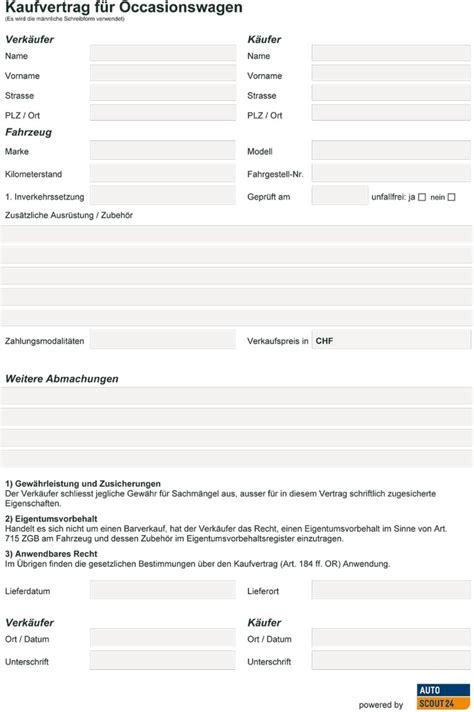 Kaufvertrag Auto Schweiz by Ratgeber Autoverkauf Pdf