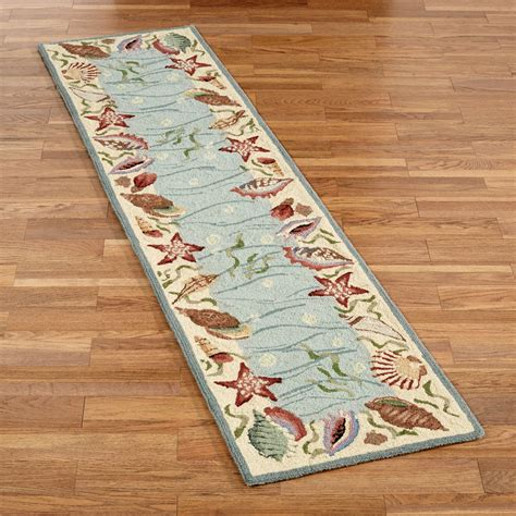 Rug Runners by Coastal Seashell Rug Runner