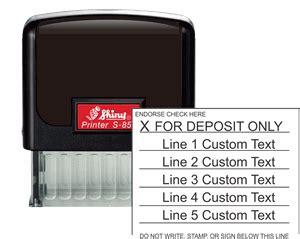 bank deposit stamp   lines