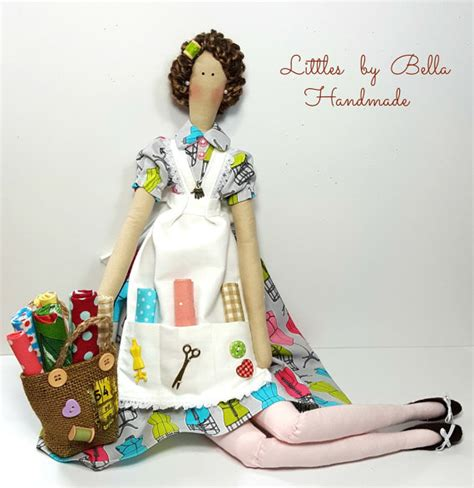 Patchwork Doll Costume - sewing doll atelier patchwork doll tilda doll by