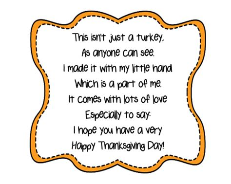 printable turkey handprint turkey handprint poem printables a to z teacher stuff