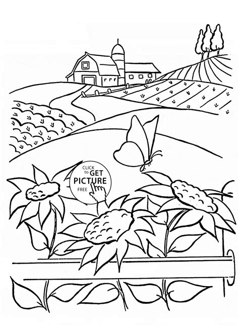 free coloring pages of summer flowers summer and sunflowers coloring page for flower