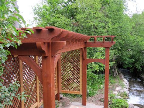 diy trellis arbor 2 diy arbors awnings decks pavilions pergolas bridge