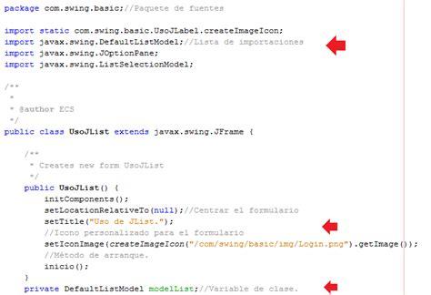 import javax swing jframe tutoriales java uso b 225 sico de elementos swing con