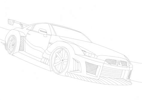 nissan skyline drawing outline search results for nissan skyline colouring pages