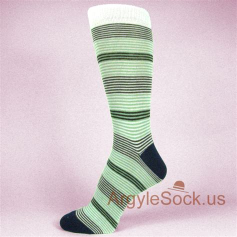 Dress Stripe Brown Apple Phone mint green apple green brown thin stripes mens socks groomsmen socks gift argyle socks
