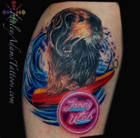 guinea pig tattoo surfing guinea pig by tattoos