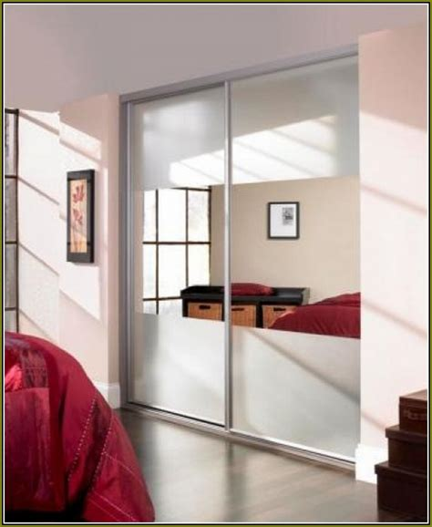 Stanley Mirrored Closet Door by Mirrored Closet Sliding Doors Home Design Ideas
