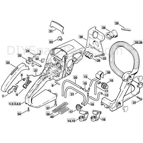 stihl ms 210 parts diagram stihl ms 210 chainbsaw ms210c parts diagram handle housing