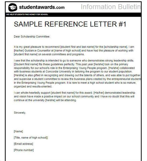 Letter Of Recommendation For Undergraduate Scholarship Recommendation Letter Template Free Word Pdf Format Creative Template