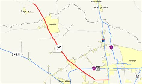 map of tomball texas texas state highway 249