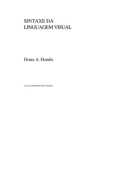 Dondis sintaxe da_linguagem_visual