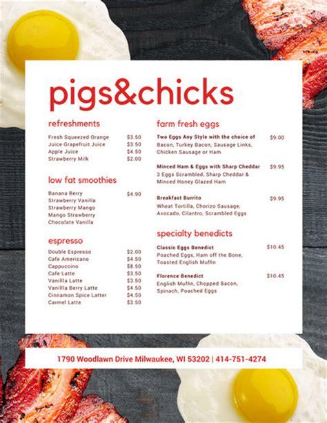 breakfast menu template minimalist breakfast restaurant menu templates by canva