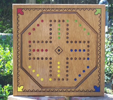 aggravation game board w marbles and dice by wooddesigner