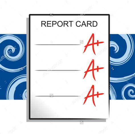custom report card templates 12 progress report card templates to free