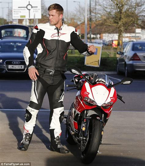 bike leathers dan osborne slips into leather motorcycle gear as he takes