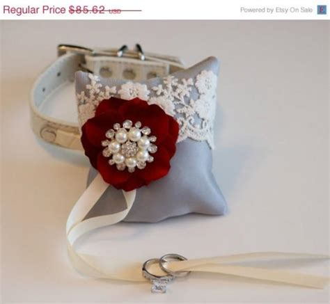 Bargain Of The Week Pink Twirl Pet Pillow by Gray And Apple Ring Pillow Ring Bearer Pillow