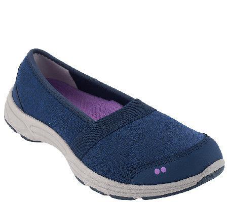 ryka slip on sneakers ryka heathered slip on sneakers luxe qvc
