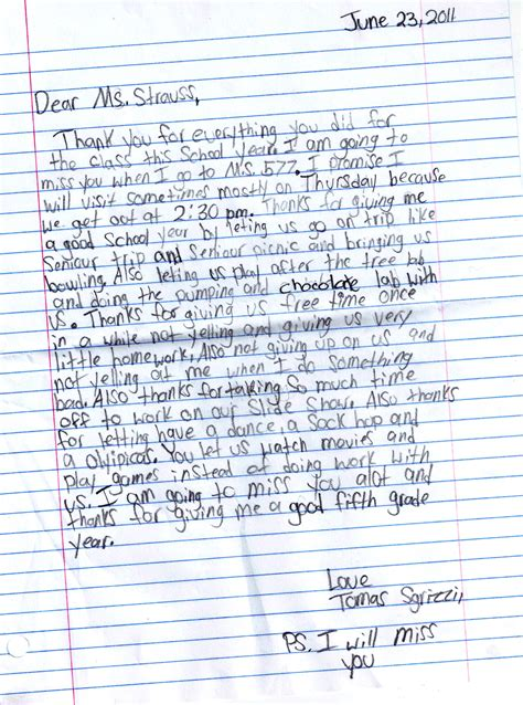 Parent Letter To Kid At C letters from and parents joanne strauss