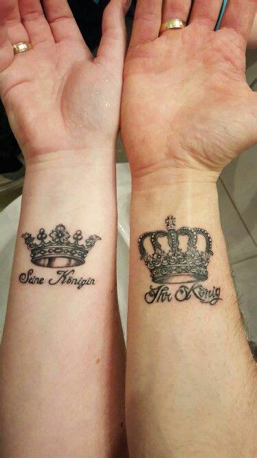 couple arm tattoos partner krone arm tattoos partner