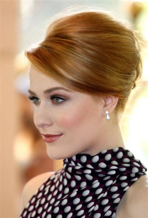 most popular sleek classic french twist with side bangs evan rachel wood sleek classic french twist hairstyles