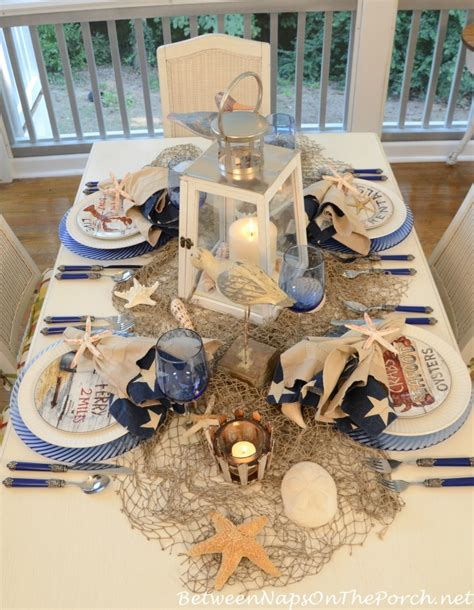 Nautical Table Decor by Nautical Table Setting Tablescape With David Brown