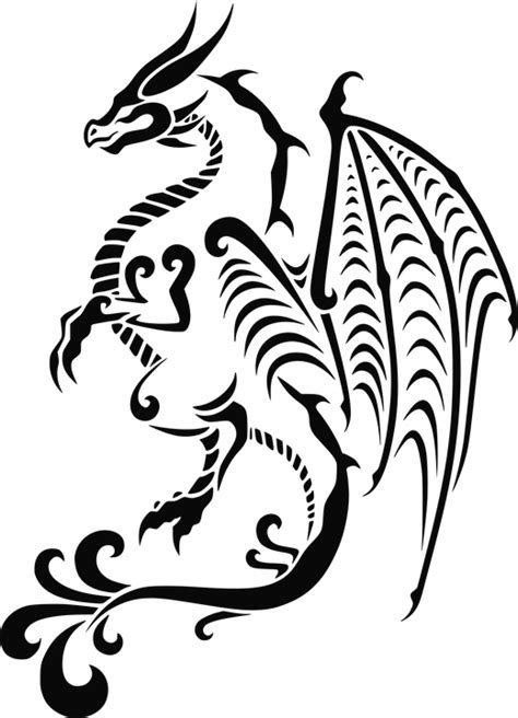 tattoo vector png free vector graphic dragon stylistic asian tattoo