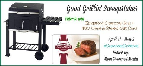 Charcoal Grill Gift Card - kingsford charcoal grill and omaha steaks gift card for your summer grillin fun