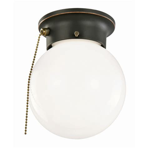 Ceiling Mount Light With Pull Chain by Design House 1 Light Flush Mount With Pull Chain Reviews