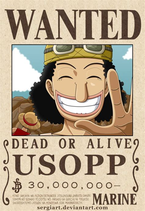 membuat poster wanted one piece one piece usopp wanted poster by sergiart on deviantart