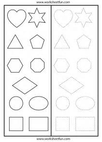 preschool worksheets shapes tracing images