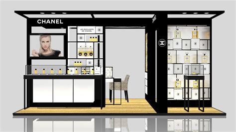 Chanel Stand 3ds max exhibition stand chanel gum