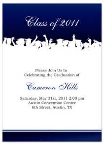 free graduation invitation announcement white blue word template gi 1074