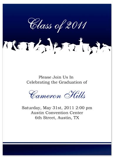 graduation invitation templates free word free graduation invitation announcement white