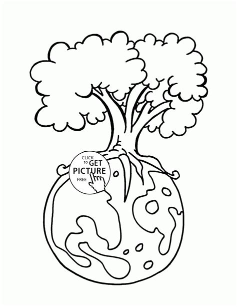green earth happy earth day coloring page for kids