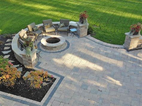 28 Best Patio Images On Pinterest Landscaping Ideas Paver Patio Designs With Pit