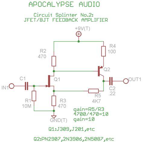 fet transistor gain quot activator 2 quot fet pre for guitars and basses diyaudio