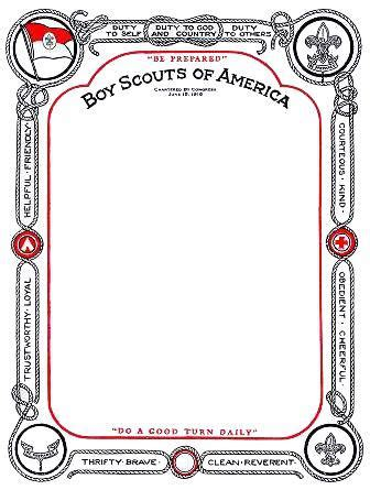 boy scout certificate templates free printable certificate templates free