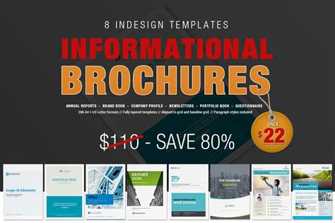 Informational Website Templates by 8 Informational Brochures Bundle Brochure Templates On