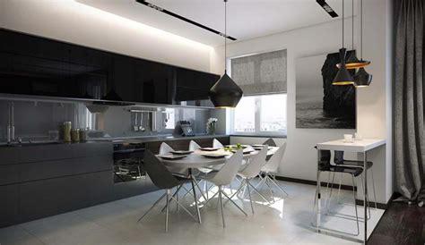 coin repas cuisine moderne salle 224 manger design dans un petit appartement de ville