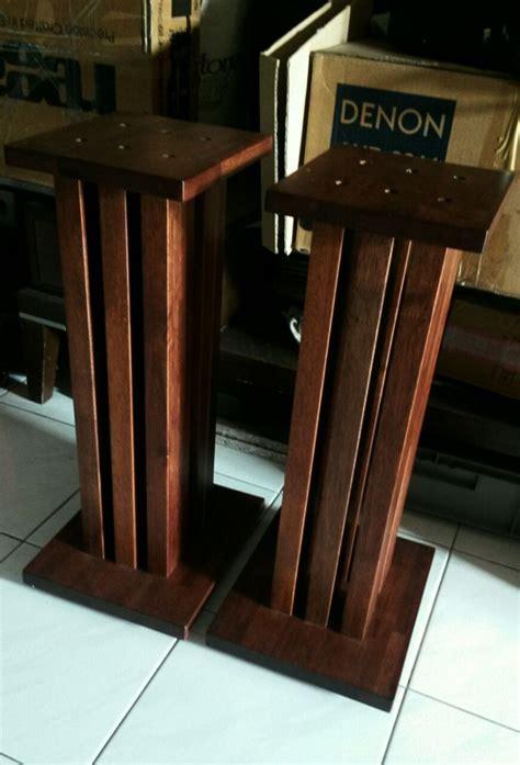 ats 24 quot six pillars wooden speaker stands