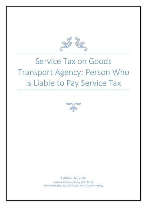 service ta service tax on goods transport agency