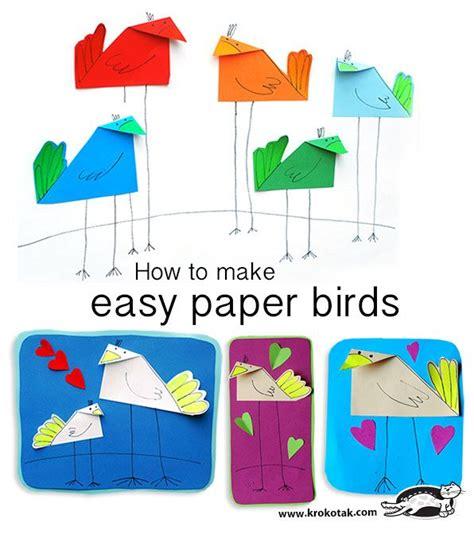 How To Make Birds Out Of Paper - 523 b 228 sta bilderna om easter cards p 229 hantverk