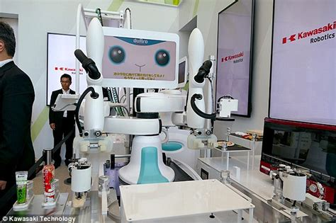 Vs Machine Robots At Japanese Hospital by Kawasaki S New Two Armed Robot Rustle Up Everything