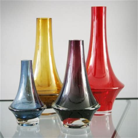set of 4 vases by tamara aladin for riihimaki 1960s 7371