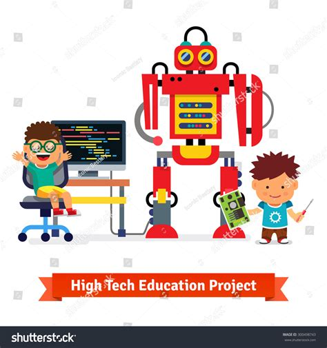 coding robotics and engineering for students a tech beginnings curriculum books programming robot robotics stock vector