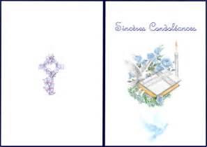 Modeles De Lettre Pour Condoleances Carte 224 Imprimez Condol 233 Ances